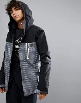 Billabong All Day Snow Jacket in Faded Stripe