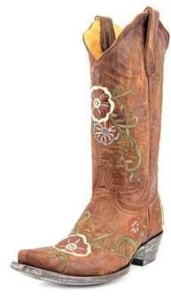 Old Gringo Tyler 13 Women Pointed Toe Leather Brown Mid Calf Boot.