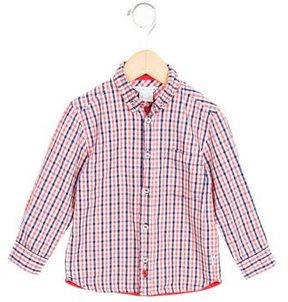 Little Marc Jacobs Boys' Gingham Print Long Sleeve Shirt