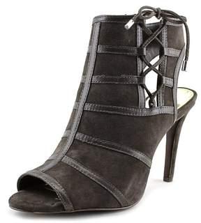 Lauren Ralph Lauren Mimi Women US 6 Gray Peep Toe Heels