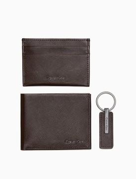 Calvin Klein saffiano leather 3-piece gift set