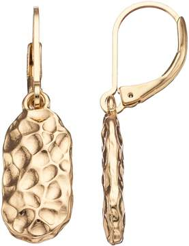 Dana Buchman Hammered Geometric Drop Earrings