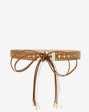 White House Black Market Leather Cutout Skinny Belt