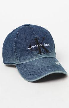 Calvin Klein Denim Destroyed Strapback Dad Hat
