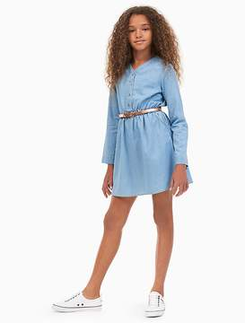 Calvin Klein Jeans Girls Chambray Foil Print Shirtdress