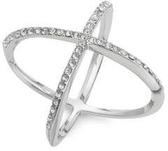 Michela Pave Cross Cocktail Ring