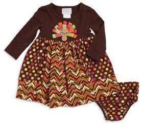 Iris & Ivy Baby Girl's Turkey Dress and Bloomers