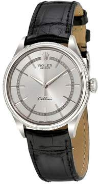 Rolex Cellini Time Silver Dial Automatic Men's 18 Carat White Gold Watch 50509WSL