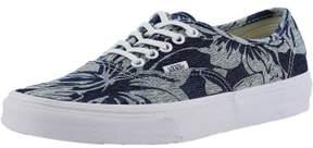 Vans Authentic Indigo Tropical Blue / True White Ankle-High Fabric Fashion Sneaker - 9.5M 8M
