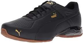 Puma Uma Men's Cell Surin 2 Premium Sneaker, Black-Gold, 8 US