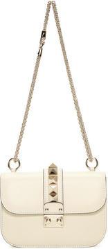 Valentino Ivory Garavani Small Rockstud Lock Bag