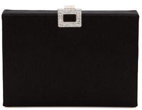 Roger Vivier Night crystal-embellished satin box clutch