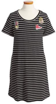 Love, Fire Patch T-Shirt Dress (Big Girls)