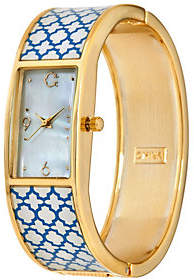 C. Wonder Trellis Print Mother-of-Pearl DialBangle Watch
