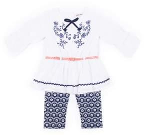 Little Lass Toddler Girl Gauze Tunic & Capri Leggings, 2Pc Outfit Set