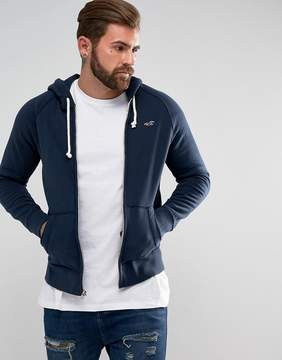 Hollister Hoodie Regular Fit icon Logo in Navy Marl