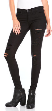 Flying Monkey Black Distressed Skinny Jeans