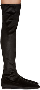 Giuseppe Zanotti Black Velvet Cika Over-the-Knee Boots