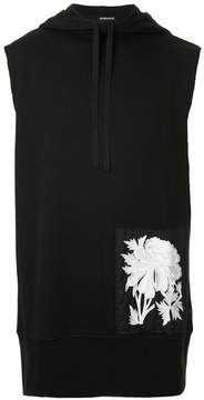 Ann Demeulemeester floral embroidered sleeveless hoodie