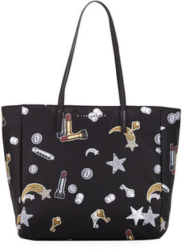 Marc Jacobs Tossed Charms Printed Shopping Bag - BLACK MULTI - STYLE