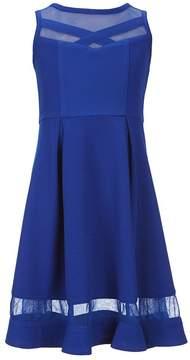 Bonnie Jean Big Girls 7-16 Illusion-Inset Fit-And-Flare Dress