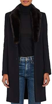 Barneys New York Women's Mink Fur & Felted Wool-Blend Coat