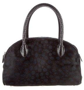 Alaia Python & Ponyhair Bowler Bag