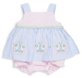 Florence Eiseman Baby Girl's Seersucker Skirted Romper