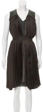 Antonio Marras Silk Plissé Knee-Length Dress w/ Tags