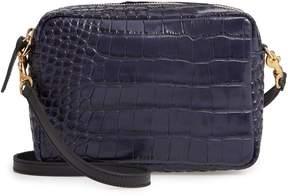 Clare Vivier Midi Sac Croc Embossed Leather Crossbody Bag