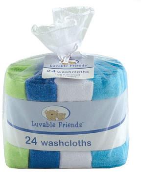 Luvable Friends Blue & Green 24-Piece Washcloth Set