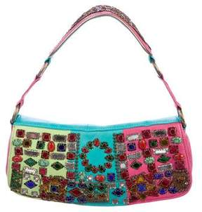 Etro Embellished Colorblock Shoulder Bag