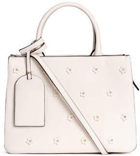 H&M Appliqued Handbag - White