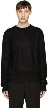 Saint Laurent Black Mohair Crewneck Sweater