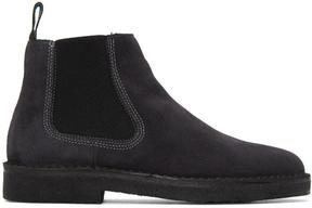 Paul Smith Grey Suede Dart Chelsea Boots