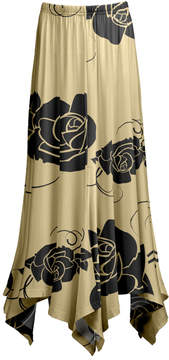 Lily Beige & Black Floral Handkerchief Skirt - Women & Plus