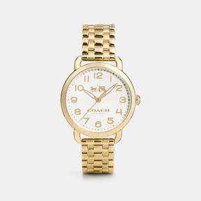 COACH DELANCEY GOLD PLATED BRACELET WATCH - w1318 - GOLD PLATED