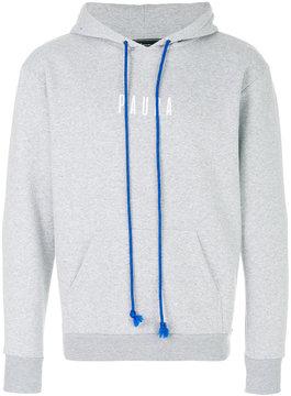 Paura contrast drawstring hoodie