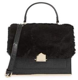 ALDO Faux Fur-Trimmed Crossbody Bag