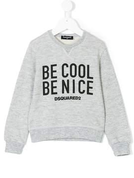 DSQUARED2 slogan print sweatshirt