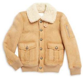 Moncler Girl's Fur Collar Jacket