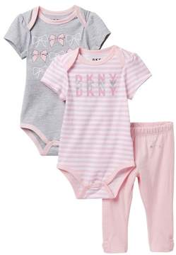 DKNY Bow Set with Leggings (Baby Girls 12-24M)