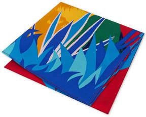 Tommy Hilfiger Men's Parakeet Pride Silk Pocket Square