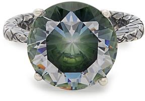 Bottega Veneta Cubic-zirconia and silver ring