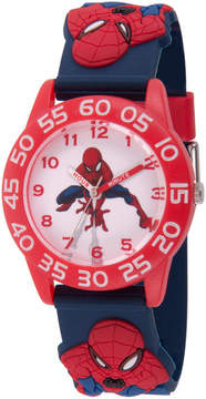 Marvel Spiderman Boys Blue Strap Watch-Wma000171