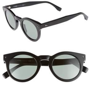 Men's Fendi 48Mm Sunglasses - Black