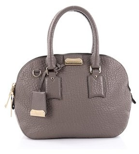 Burberry Pre-owned: Orchard Bag Heritage Grained Leather Small. - GRAY - STYLE