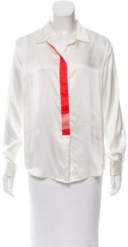 Maiyet Silk Button-Up Blouse w/ Tags
