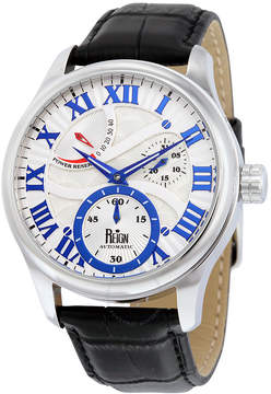 Reign Bhutan White Engraved Dial Stainless Steel Case Men's Watch