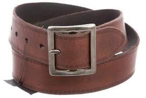 Saint Laurent Distressed Leather Belt w/ Tags